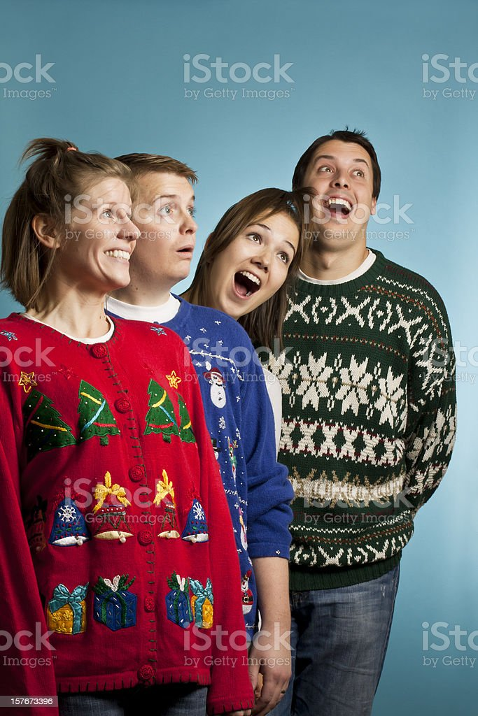 Look up, it's sweaters! royalty-free stock photo