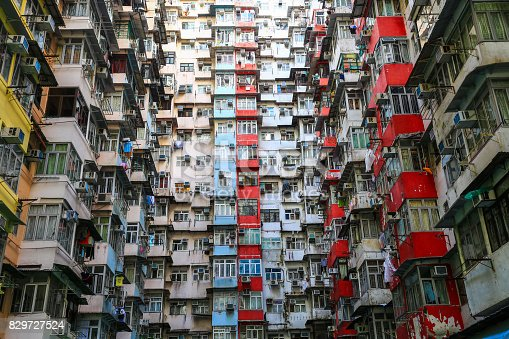 istock A look up view of Quarry Bay in Hong Kong,China. 829727524