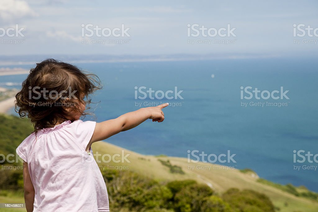 Look, what is there? royalty-free stock photo