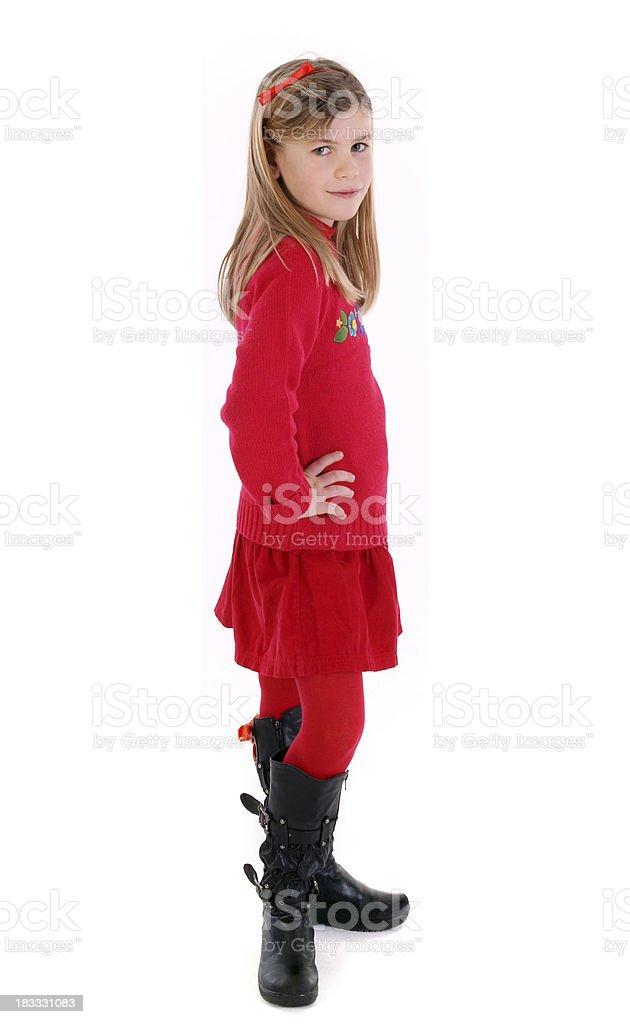 looked beautiful little girl stock photo