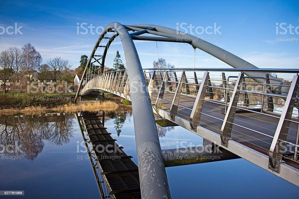 Looking Across Kirkpatrick Macmillan Bridge Dumfries stock photo