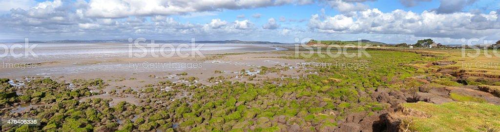 Looking across Morecambe Bay stock photo