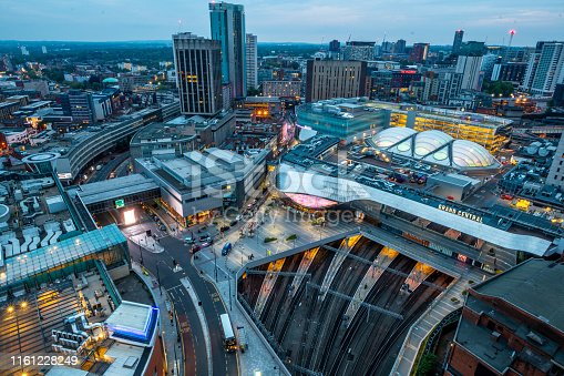 Aerial view of the city of Birmingham