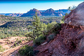 looking down across the valley from just outside Sedona