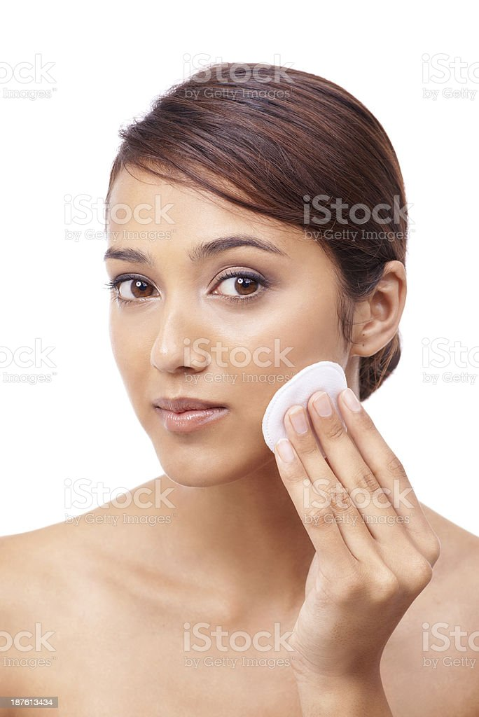 Looking after my skin royalty-free stock photo