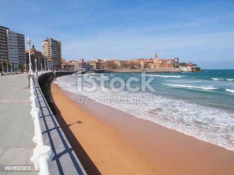 istock Looking along San Lorenzo's beach towards the peninsula of Santa 494893925