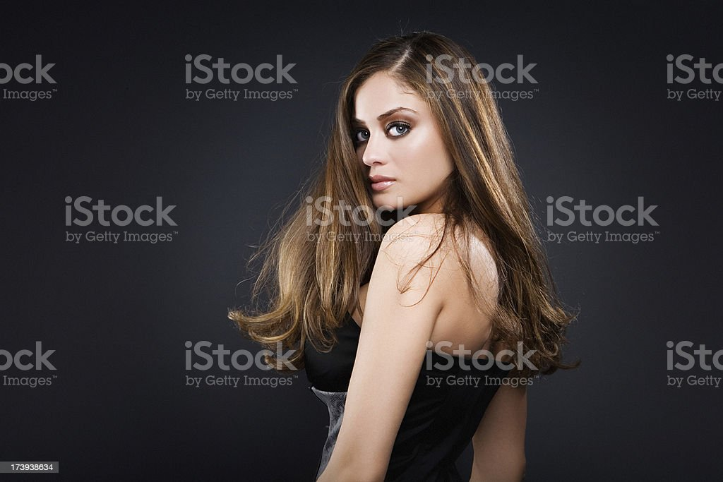looking at camera sexy girl royalty-free stock photo