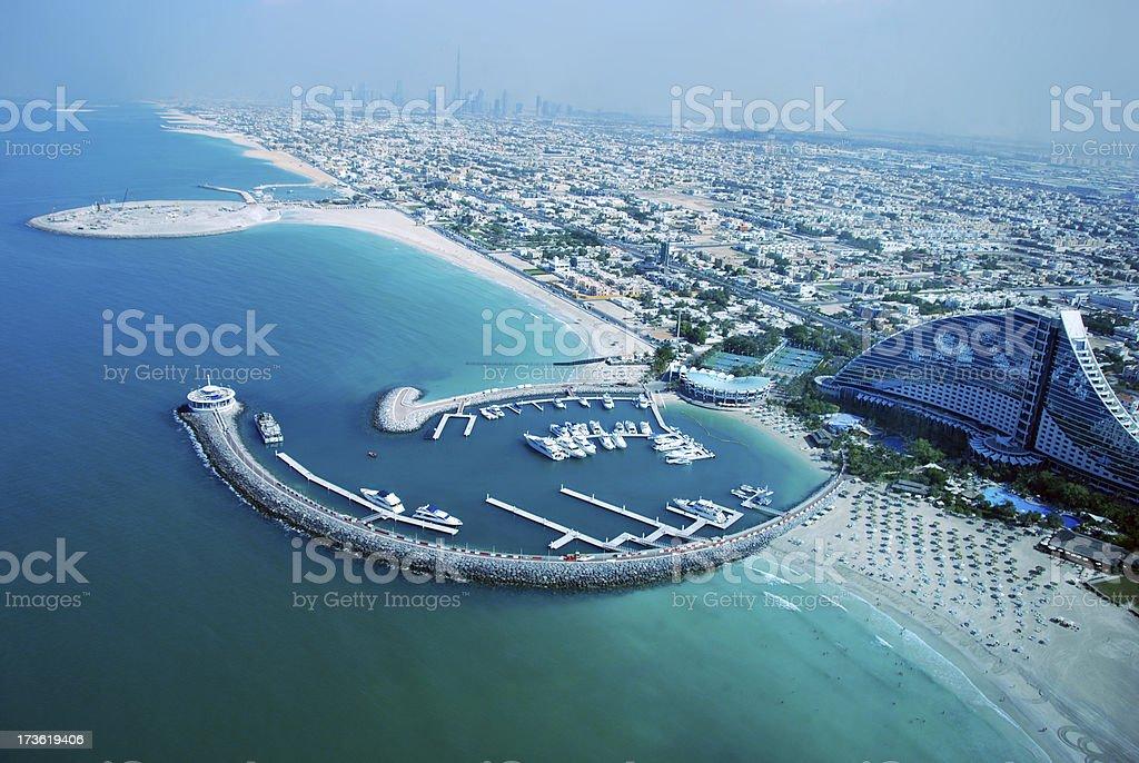 Looking at Dubai - View from Burj al Arab Hotel royalty-free stock photo