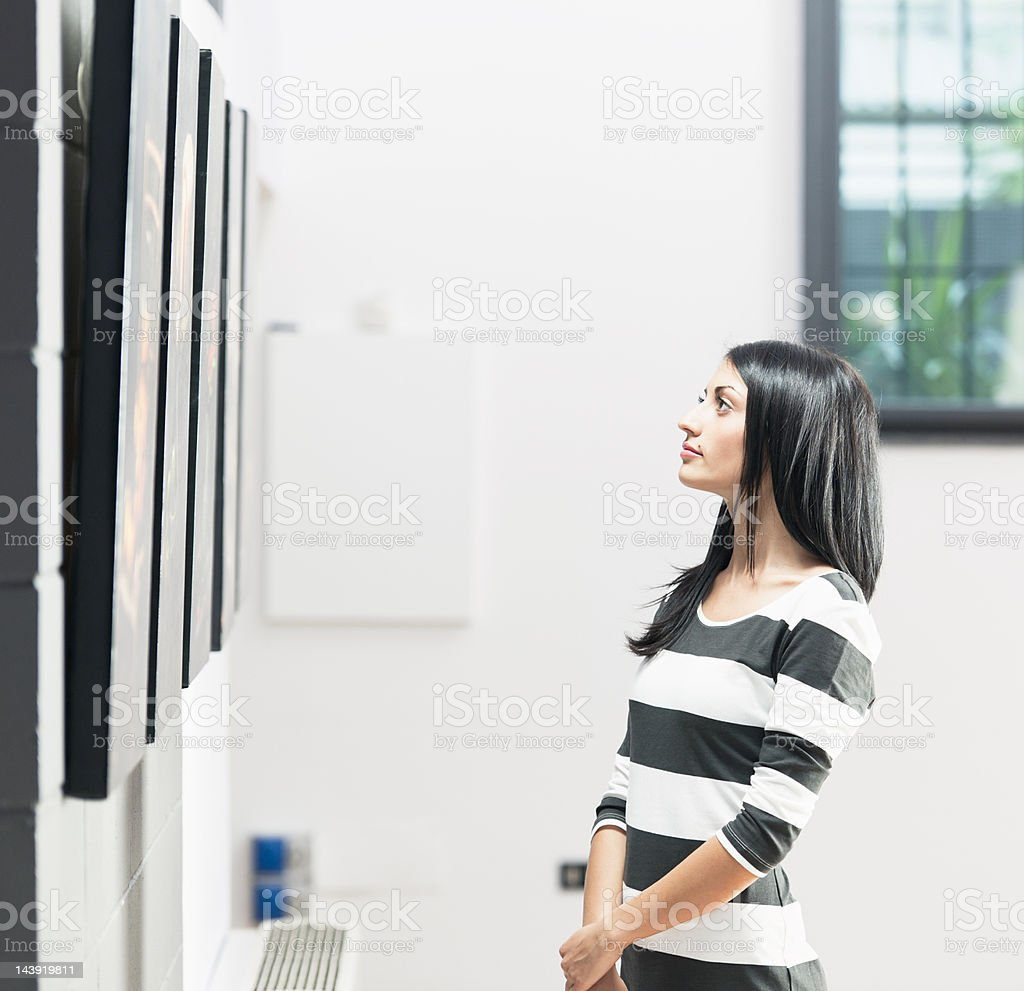 Looking at Gallery Pictures stock photo