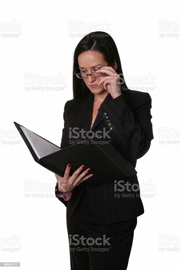 Looking at her notes royalty-free stock photo
