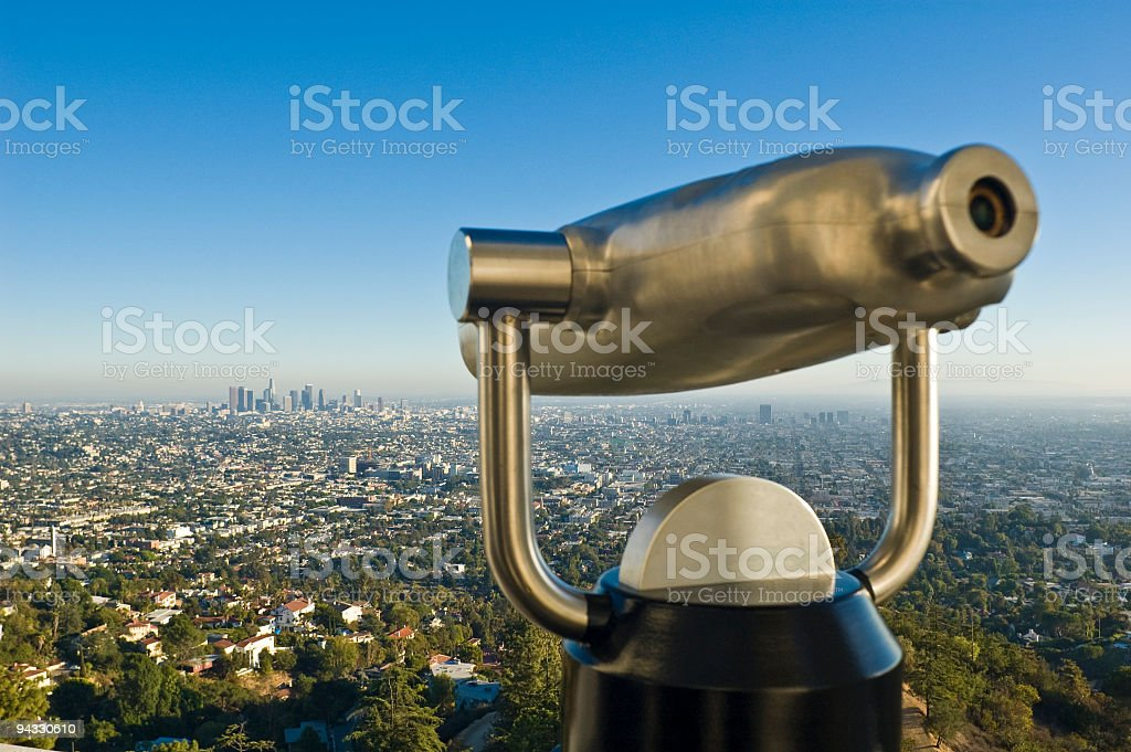 Looking at Los Angeles stock photo