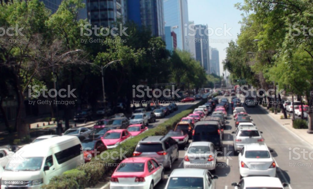 Looking At Mexico City Rush Hour Traffic Jam In Mexico