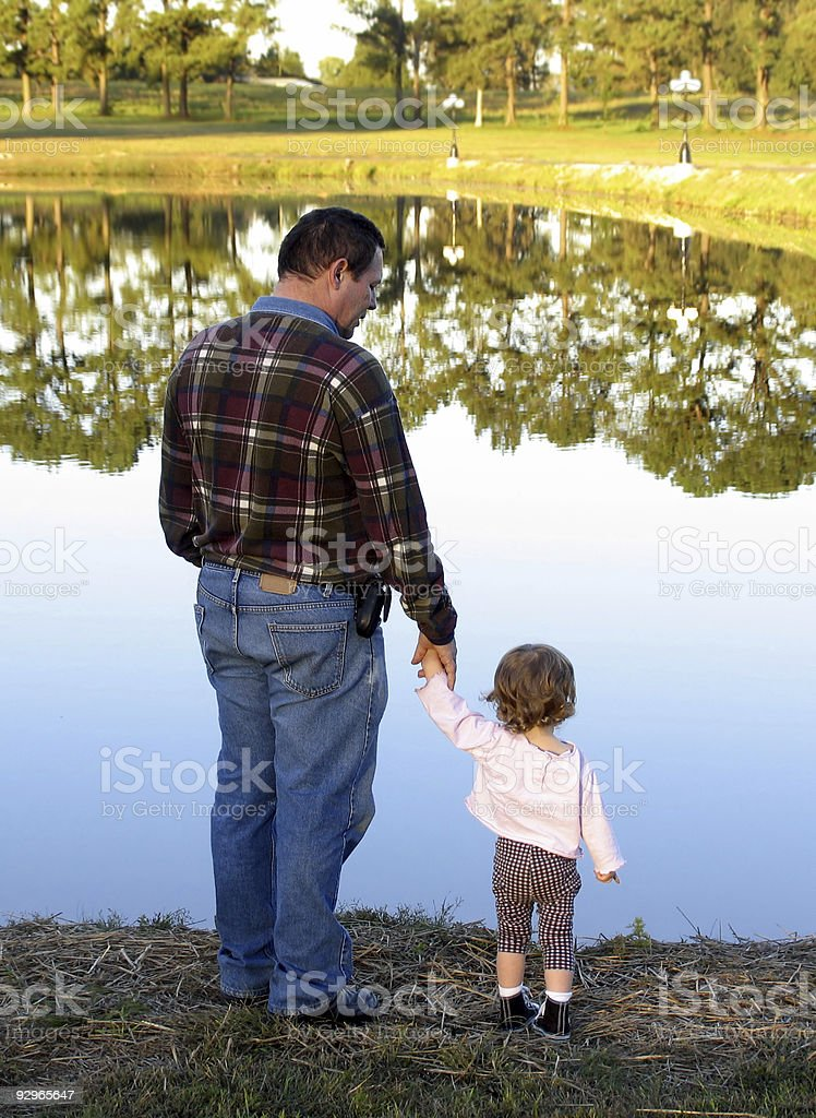 Looking at mirror lake royalty-free stock photo