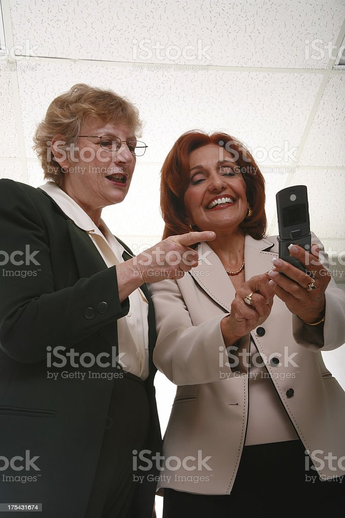 Looking At Phone Pictures royalty-free stock photo