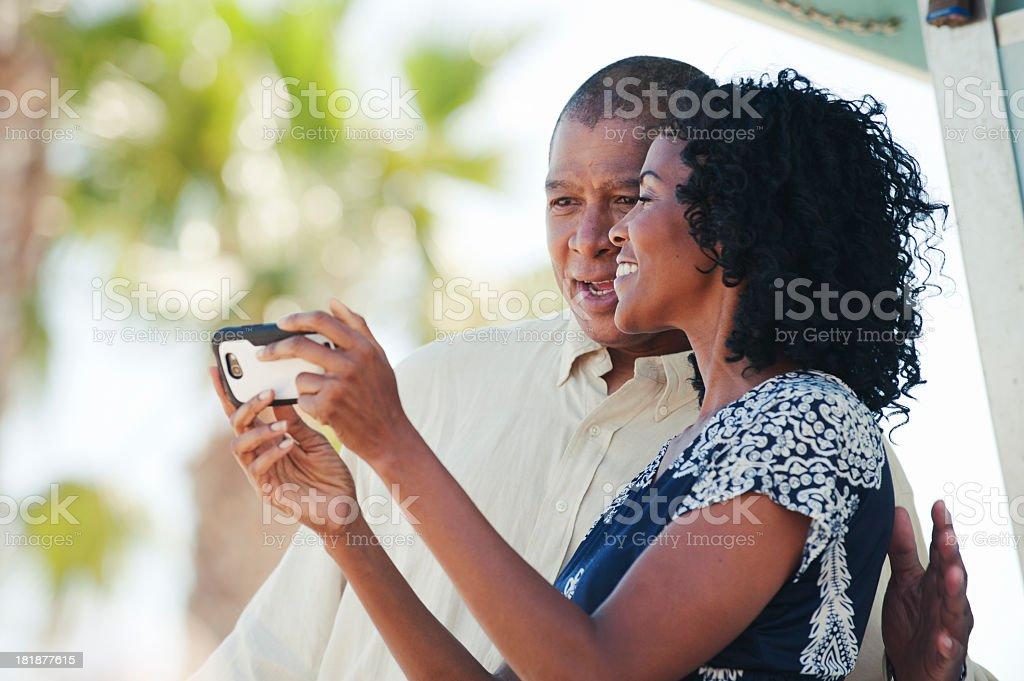 Looking at photos royalty-free stock photo