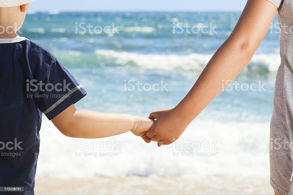Looking at sea royalty-free stock photo