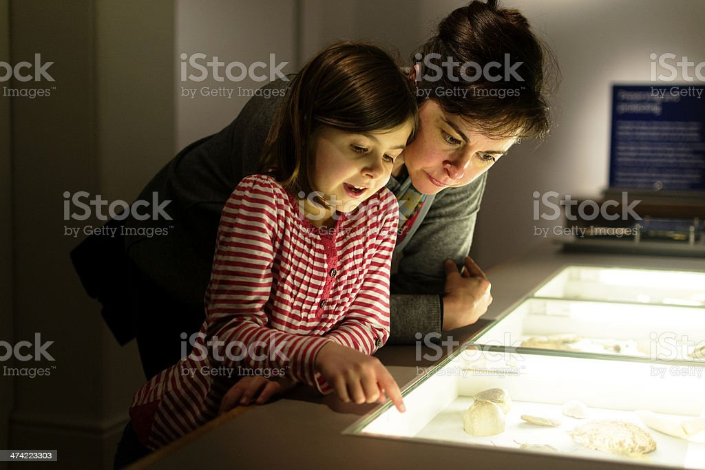 Looking at the display stock photo