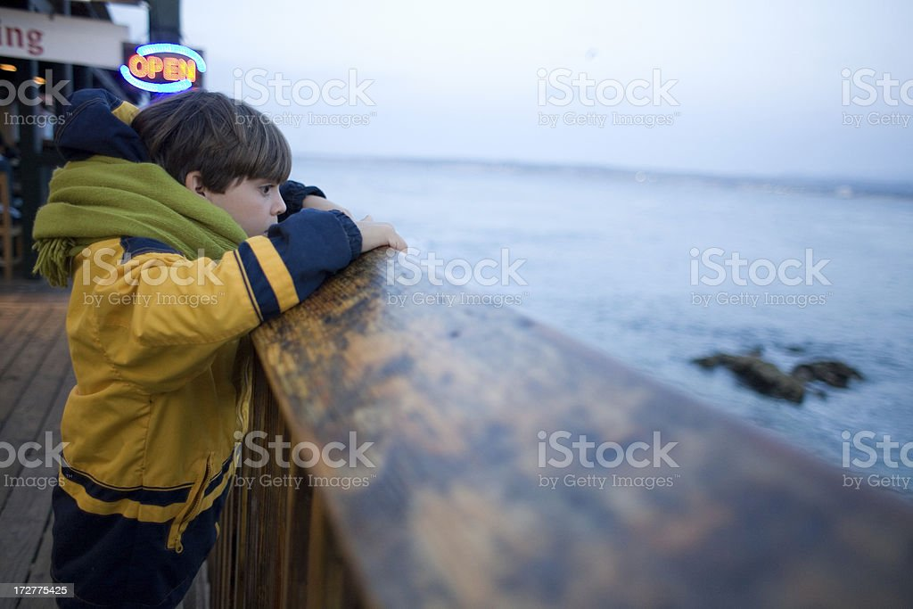Looking At The Ocean royalty-free stock photo