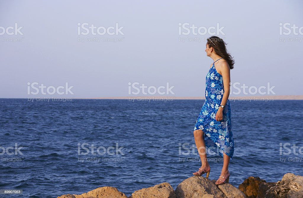Looking at the sea royalty-free stock photo