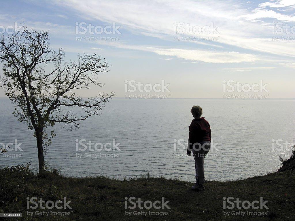 Looking at the Sea royalty-free stock photo