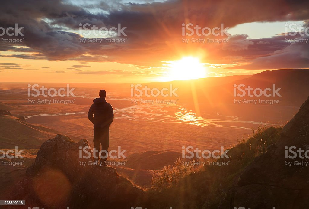 Looking at the sun royalty-free stock photo