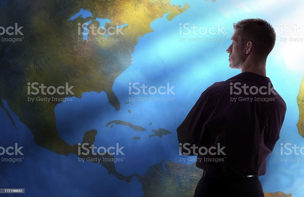 looking at the world royalty-free stock photo