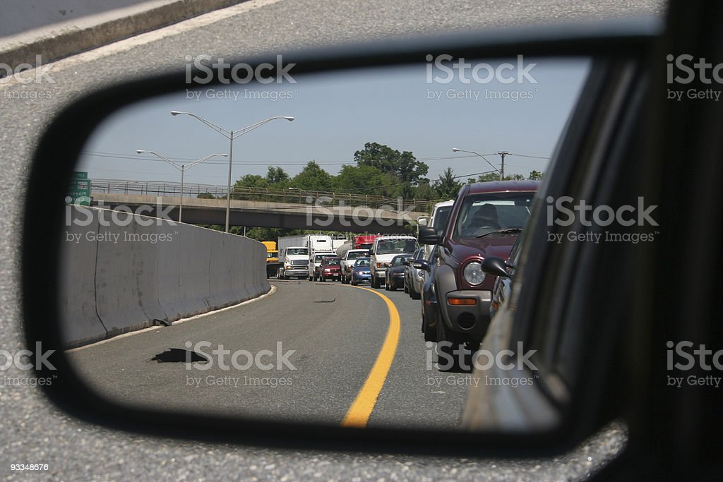 Looking Back on another Traffic Mess I'm In royalty-free stock photo