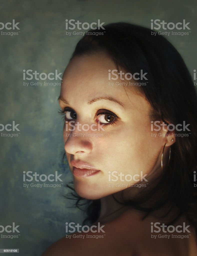 Looking back royalty-free stock photo