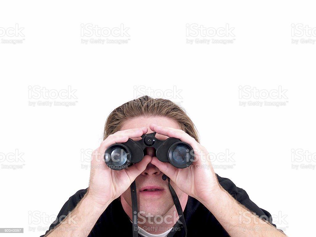 Looking Binoculars royalty-free stock photo