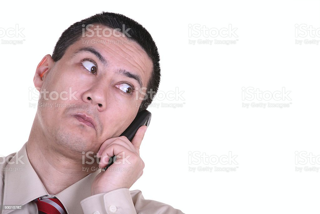 Looking Business Man with Phone royalty-free stock photo