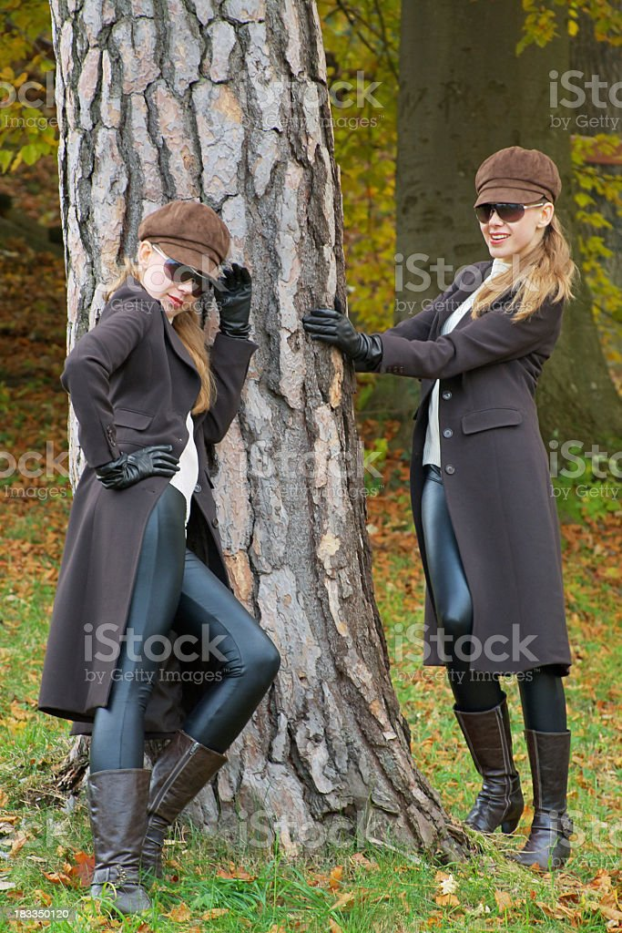 Looking Cool in Autumn stock photo