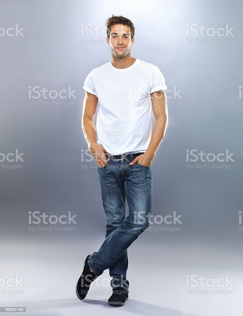 Looking cool stock photo