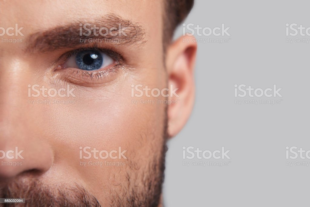Looking deeply into your heart. stock photo