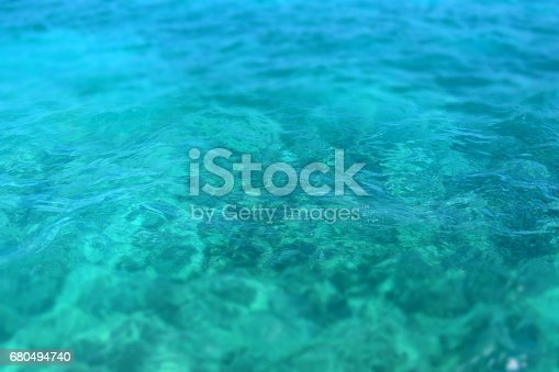 istock Looking down at clear water 680494740