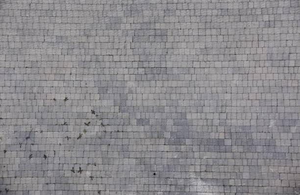 Blickte auf ineinandergreifenden Pflastersteine – Foto
