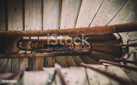istock Looking Down at Old Stairway 623939680