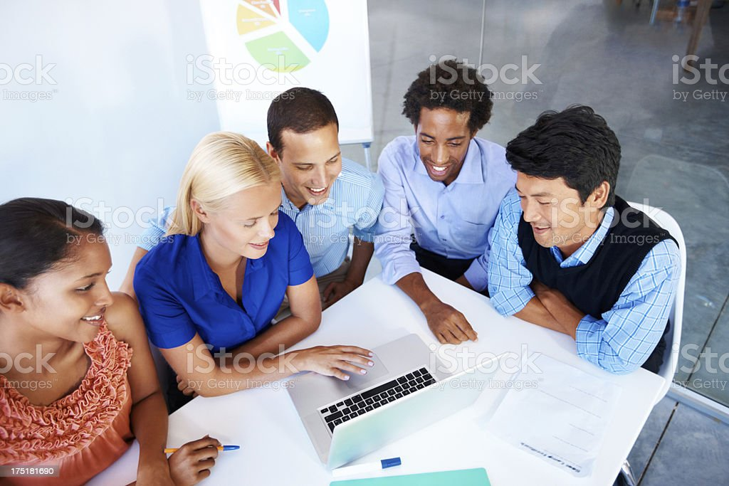 Looking down at the number one team royalty-free stock photo