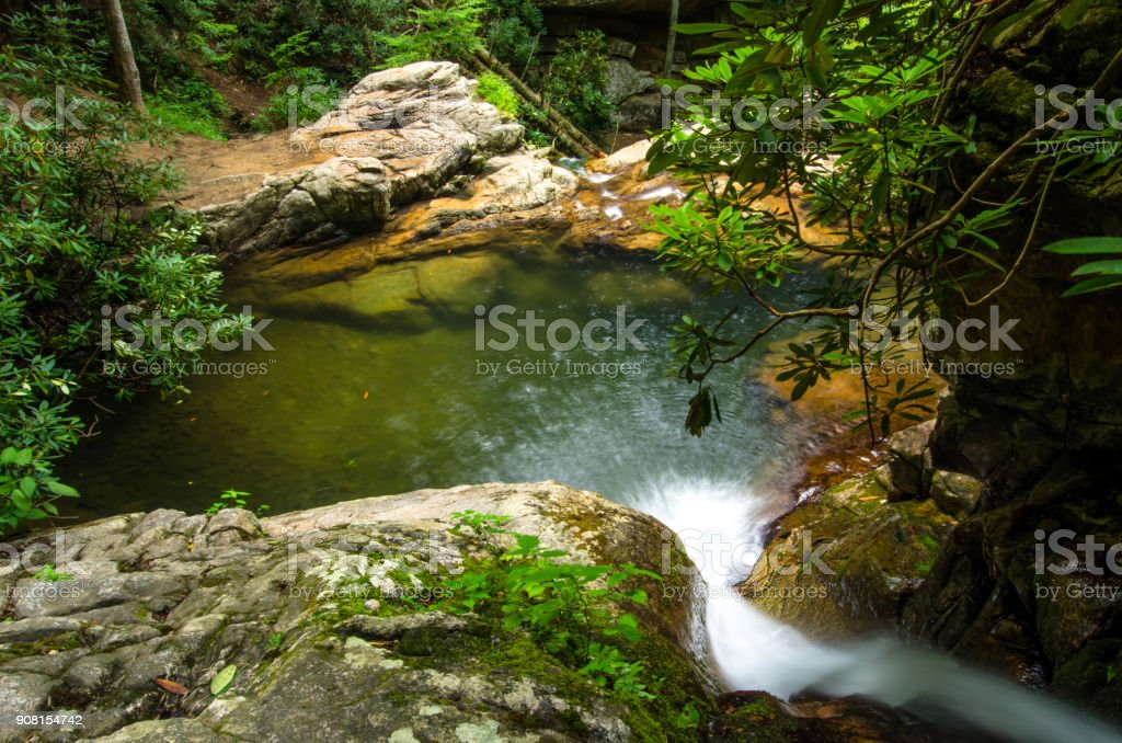 Looking Down Blue Hole Falls stock photo