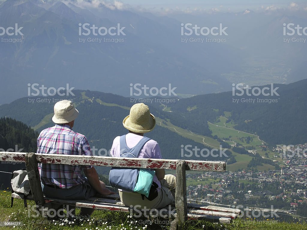 Looking down from Alps royalty-free stock photo