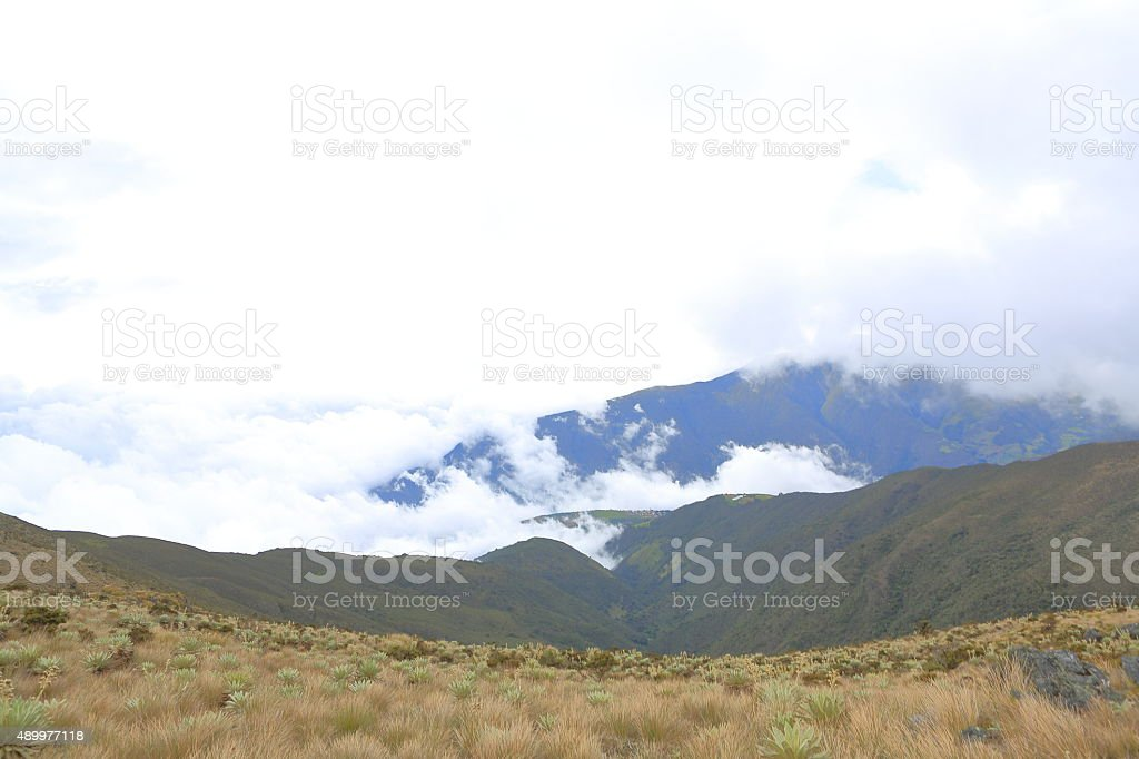 Looking Down from High Mountains in Tachira stock photo