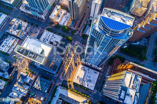 istock Looking down on one of the Tallest Residential Skyscrapers in Texas 819459456