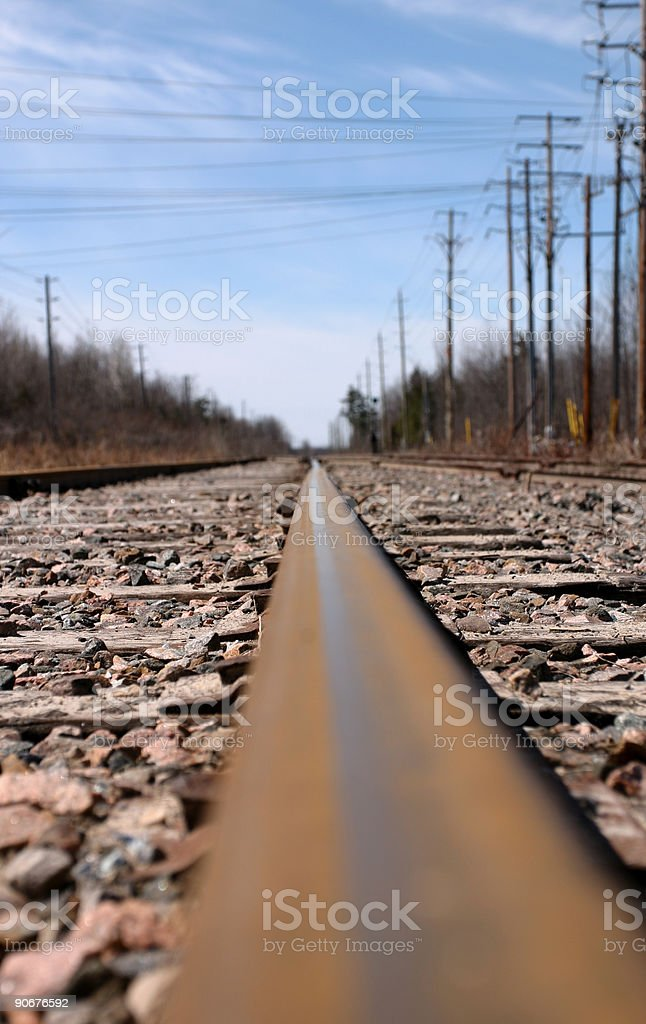 Looking Down the Tracks royalty-free stock photo