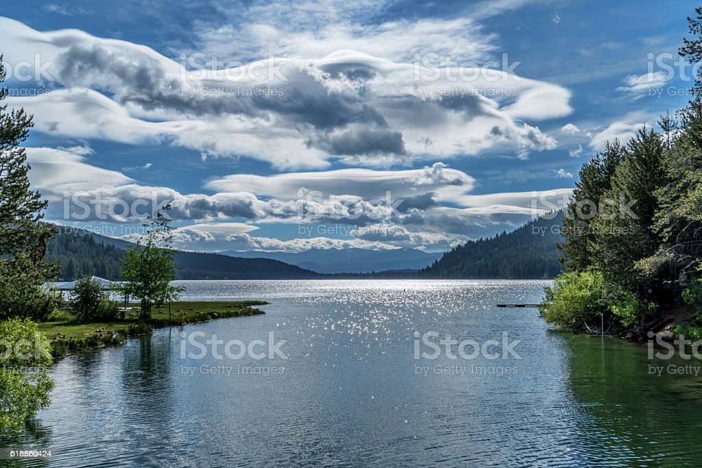 Looking East, Donner Lake stock photo