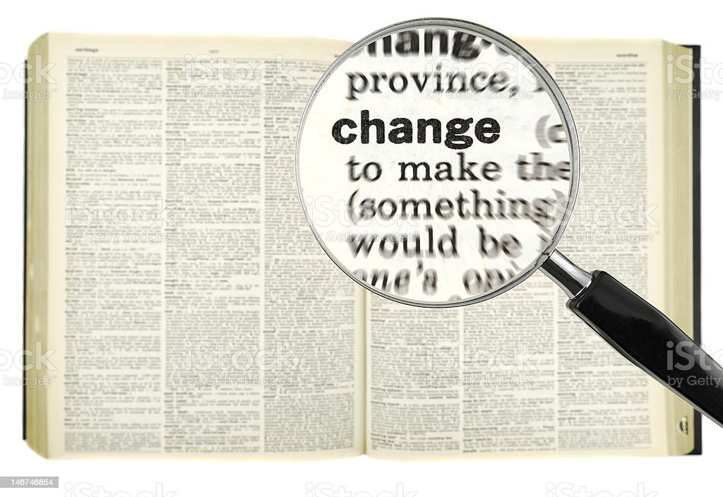 Looking for a change royalty-free stock photo