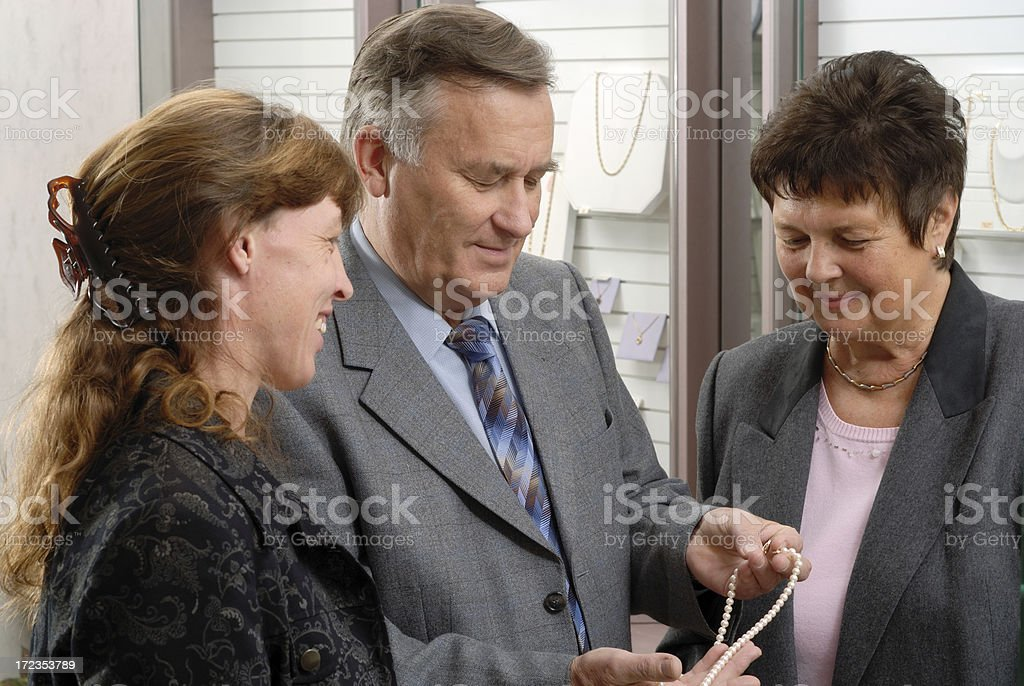 Looking for a gift royalty-free stock photo