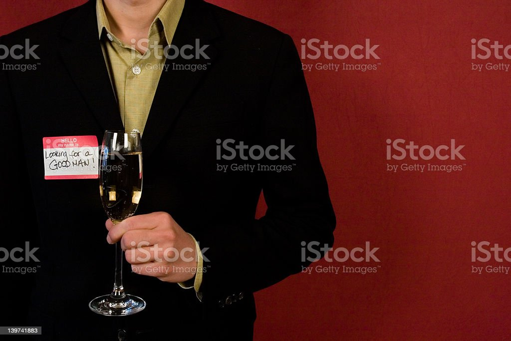 looking for a good man royalty-free stock photo