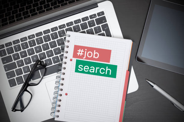 Looking for a job. Job search concept stock photo