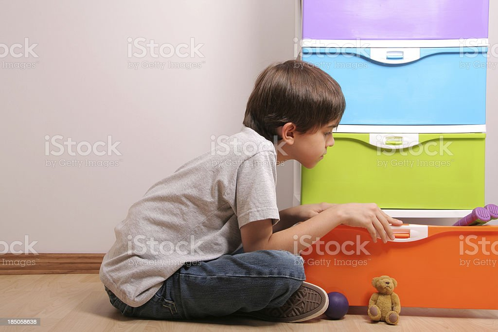 Looking for a Toy royalty-free stock photo
