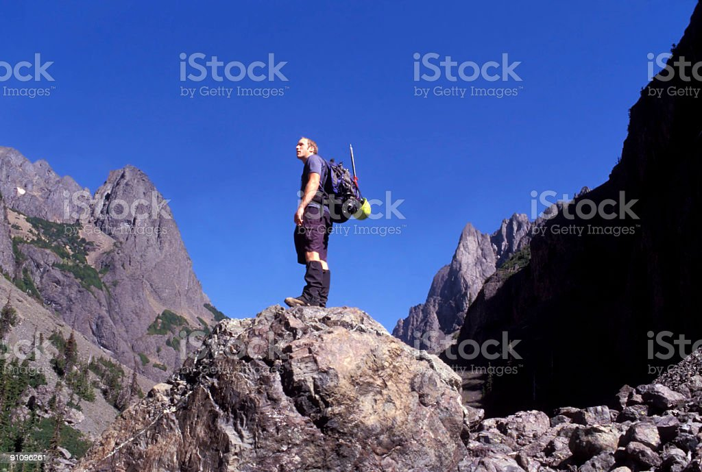 Looking for adventure royalty-free stock photo