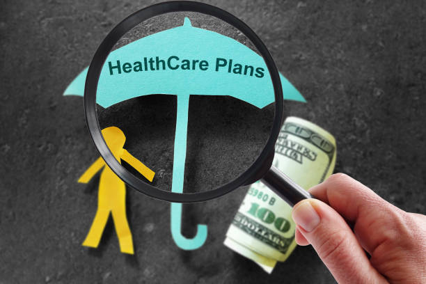Looking for health insurance stock photo